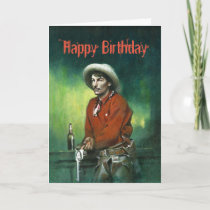Vintage Cowboy Birthday Card