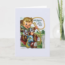 Vintage Cowboy Birthday Greeting Card