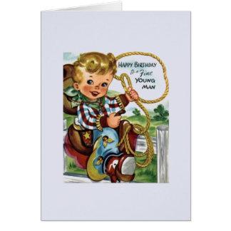 Vintage Cowboy Birthday Greeting Card