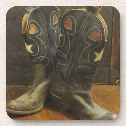 Vintage Cowboy Boots Coaster
