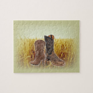 vintage cowboy boots western country fashion jigsaw puzzle