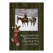Vintage Cowboy Christmas | Barnwood Card