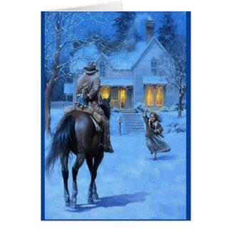 Vintage Cowboy Christmas Card