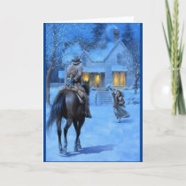 Vintage Cowboy Christmas Holiday Card