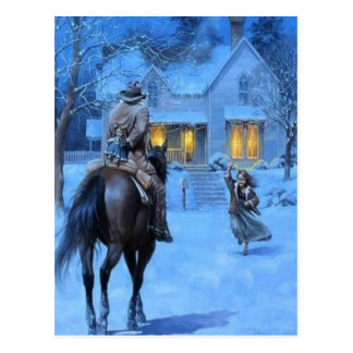 Vintage Cowboy Christmas Postcard