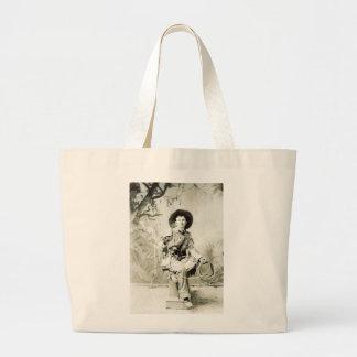 Vintage Cowboy circa 1900 Large Tote Bag