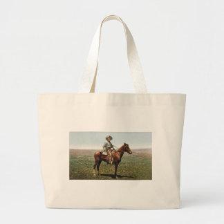 Vintage Cowboy circa 1904 Large Tote Bag