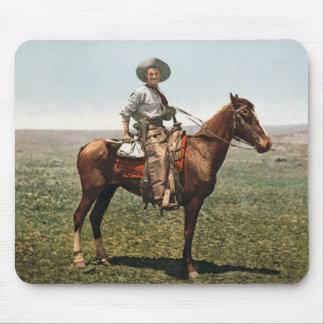 Vintage Cowboy - circa 1904 Mouse Pad