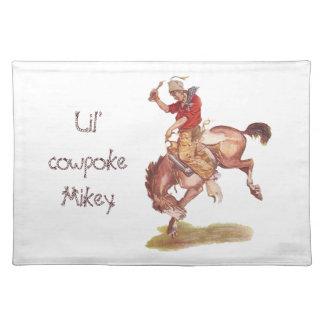 Vintage Cowboy Cloth Place Mat