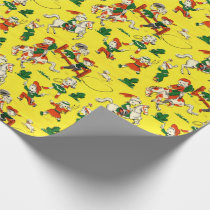 Vintage Cowboy & Cowgirl Gift Wrap Wrapping Paper