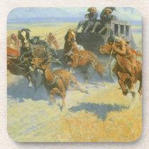 Vintage Cowboy, Downing the Nigh Leader, Remington Coaster