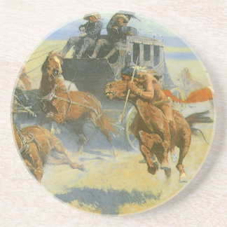 Vintage Cowboy, Downing the Nigh Leader, Remington Coaster