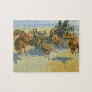 Vintage Cowboy, Downing the Nigh Leader, Remington Jigsaw Puzzle