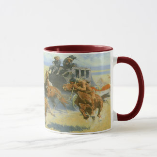 Vintage Cowboy, Downing the Nigh Leader, Remington Mug