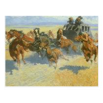 Vintage Cowboy, Downing the Nigh Leader, Remington Postcard