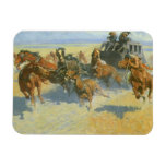 Vintage Cowboy, Downing the Nigh Leader, Remington Rectangular Photo Magnet
