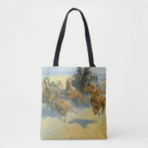 Vintage Cowboy, Downing the Nigh Leader, Remington Tote Bag