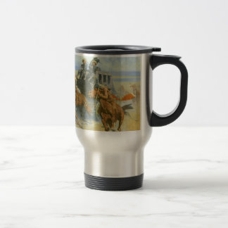 Vintage Cowboy, Downing the Nigh Leader, Remington Travel Mug