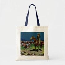 Vintage Cowboy, Farming Cattle Rancher on the Farm Tote Bag