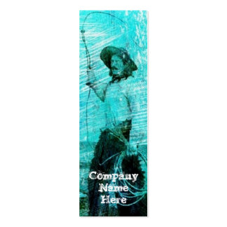 Vintage Cowboy Grunge Bookmark Business Cards