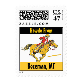 Vintage Cowboy Horse Pony Bozeman Montana Stamps
