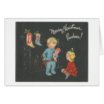 "Vintage ""Cowboy Kids"" Christmas Card"