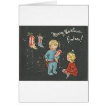 "Vintage ""Cowboy Kids"" Christmas Card"