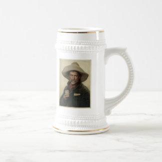 Vintage Cowboy Litho Beer Stein 18 Oz Beer Stein
