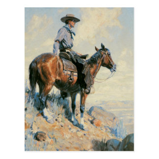 Vintage Cowboy Postcard