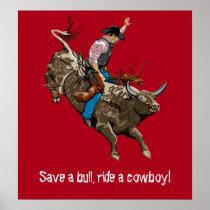 Vintage cowboy poster
