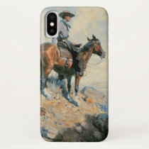 Vintage Cowboy, Sentinel of the Plains By Dunton iPhone X Case