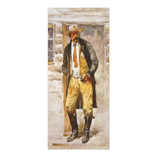 Vintage Cowboy, Sheriff Portrait by Seltzer Personalized Announcements