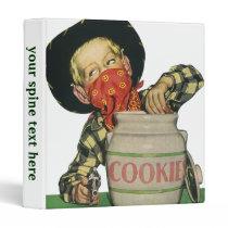 Vintage Cowboy Toy Gun Hand in the Cookie Jar Binder