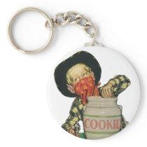 Vintage Cowboy Toy Gun Hand in the Cookie Jar Keychain