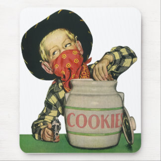 Vintage Cowboy Toy Gun Hand in the Cookie Jar Mouse Pad
