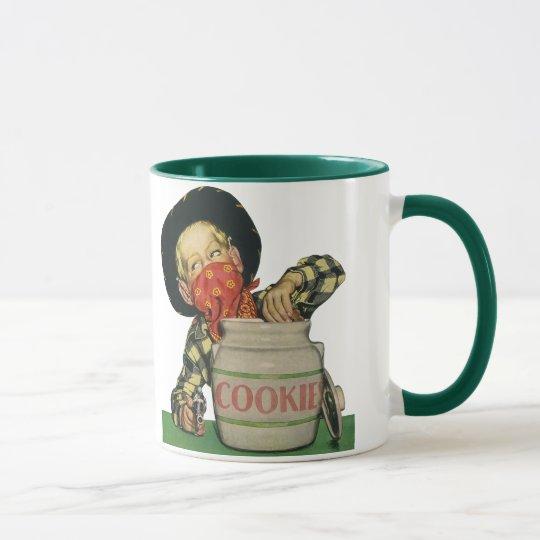 Vintage Cowboy Toy Gun Hand in the Cookie Jar Mug