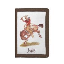 Vintage Cowboy Tri-fold Wallet