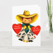 Vintage Cowboy Valentine's Day Greeting Card