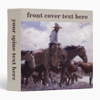 Vintage Cowboy with His Herd of Cattle by Koerner Binder