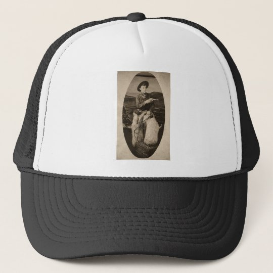 Vintage Cowboy with Lasso circa 1900 Trucker Hat