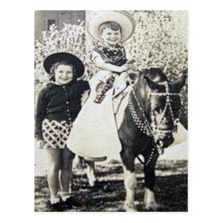 Vintage Cowboys 25 Postcard