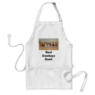 Vintage Cowboys, A Dash For Timber by Remington Adult Apron