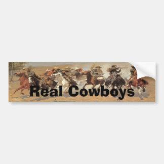 Vintage Cowboys, A Dash For Timber by Remington Bumper Sticker