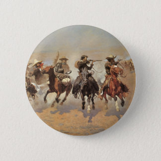 Vintage Cowboys, A Dash For Timber by Remington Button