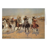 Vintage Cowboys, A Dash For Timber by Remington Card