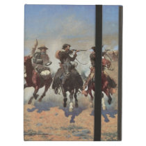 Vintage Cowboys, A Dash For Timber by Remington Case For iPad Air