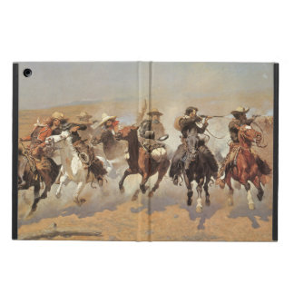 Vintage Cowboys, A Dash For Timber by Remington iPad Air Case