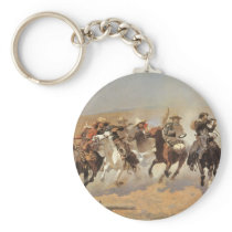 Vintage Cowboys, A Dash For Timber by Remington Keychain
