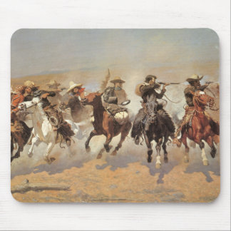 Vintage Cowboys, A Dash For Timber by Remington Mouse Pad