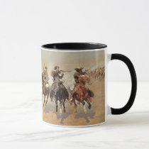 Vintage Cowboys, A Dash For Timber by Remington Mug